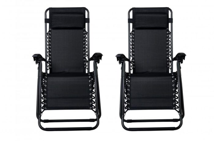 Set of 2 Zero Gravity Chairs Lounge Patio Chairs Outdoor Yard Beach - The best beach lounge chair
