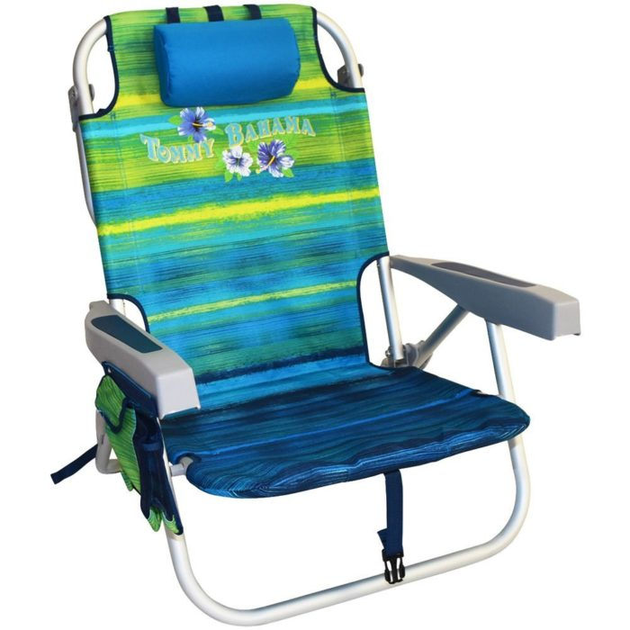 Tommy Bahama Backpack Cooler Chair with Storage Pouch and Towel Bar - The best beach chair