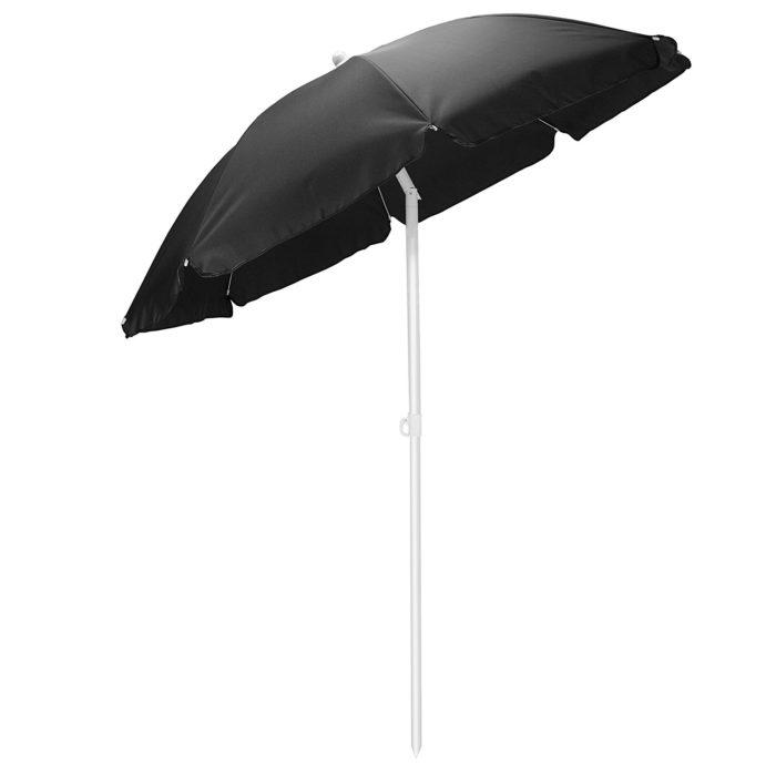 Picnic Time Outdoor Canopy Sunshade Umbrella 5.5' - Best Beach Umbrella for Wind