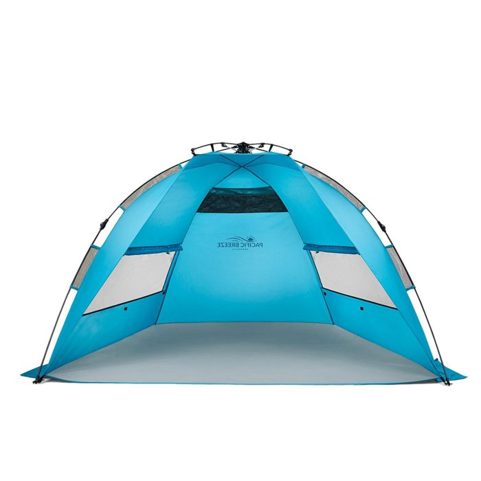 Pacific Breeze Easy Setup Beach Tent - Best Beach Canopy for Wind Protection