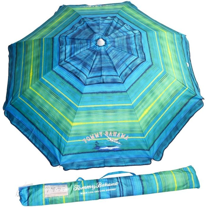 Tommy Bahama 7ft. Vented Fiberglass Beach Umbrella w/ built in Sand Anchor - The Best Beach Umbrella