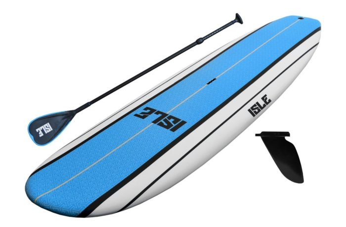 "ISLE Classic Soft Top Stand Up Paddle Board (5"" Thick) SUP Package 