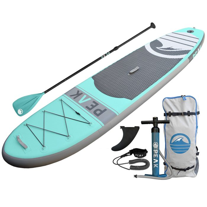"PEAK Inflatable 10'6 Stand Up Paddle Board Complete Package (6"" Thick) 