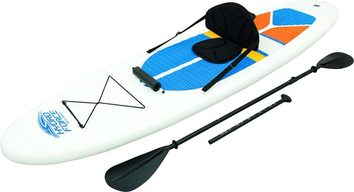 HydroForce White Cap Inflatable Stand Up Paddleboard SUP and Kayak 10' - Best paddleboards for Beginners
