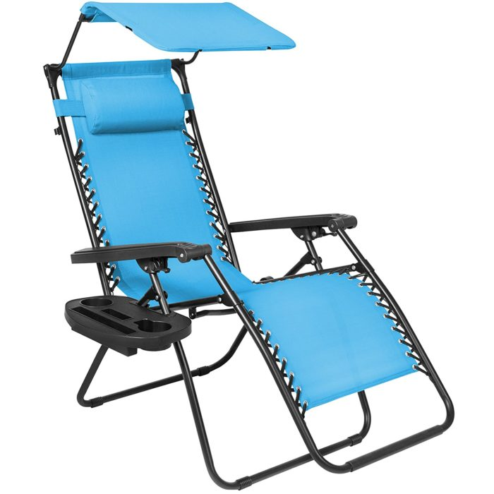 Best Choice Products Zero Gravity Canopy Shade Lounge Chair Cup Holder Patio Outdoor Garden - The best beach lounge chair