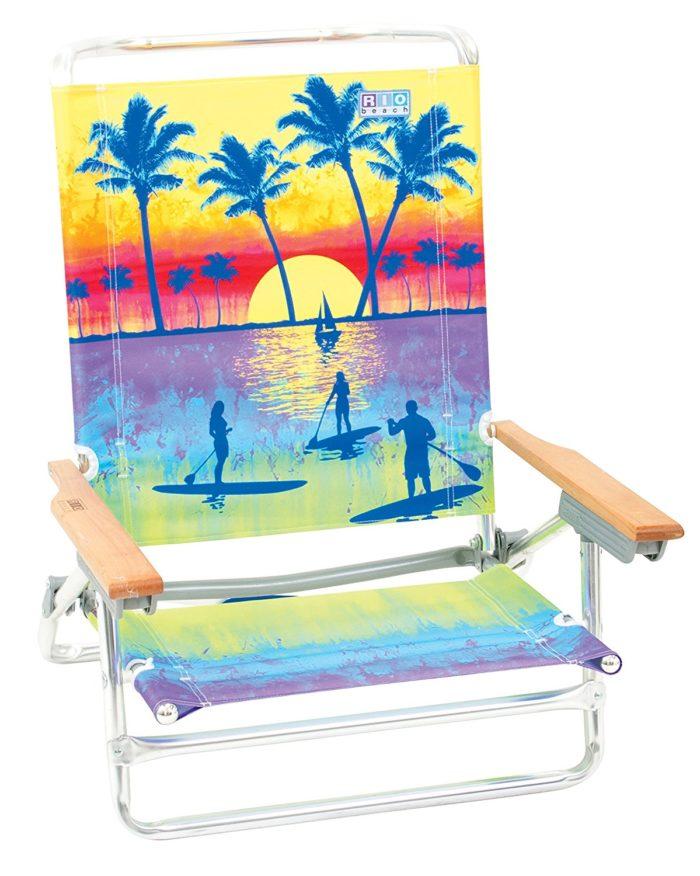 Rio Brands 5 Position Classic Lay Flat Beach Chair - The best beach chair